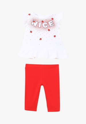 SET - Pantaloni - white/red