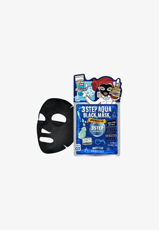 3-STEP AQUA BLACKMASK - Masker - -