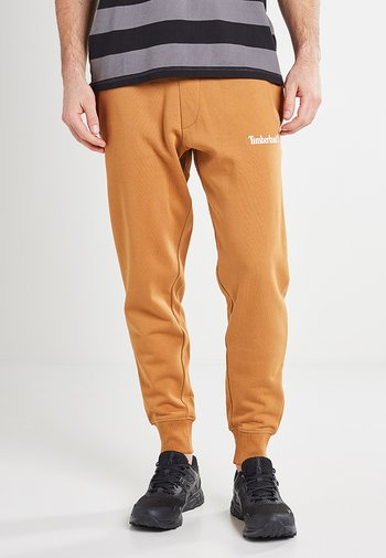 Tracksuit bottoms - wheat boot/white
