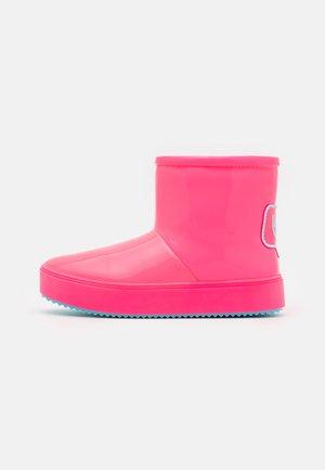 Korte laarzen - pink fluo/turquoise