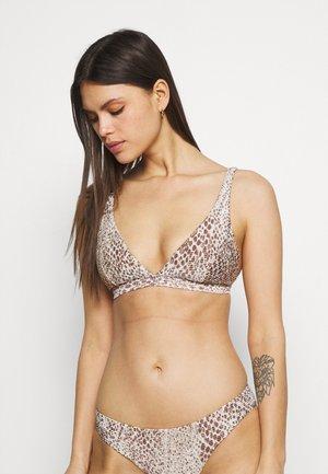 SERPENTINE LONGLINE - Bikini top - chocolate