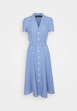 GINGHAM - Shirt dress - medium blue