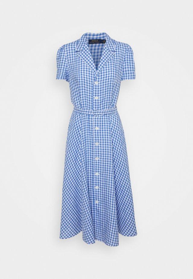 GINGHAM - Shirt dress - medium blue
