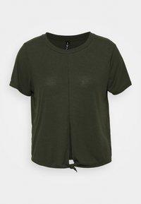 Cotton On Body - TIE UP  - Basic T-shirt - khaki - 4