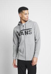 Vans - MN VANS CLASSIC ZIP HOODIE II - Zip-up hoodie - cement heather/black - 0