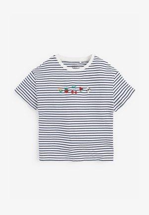 EMBROIDERED STRIPE - Print T-shirt - multi coloured