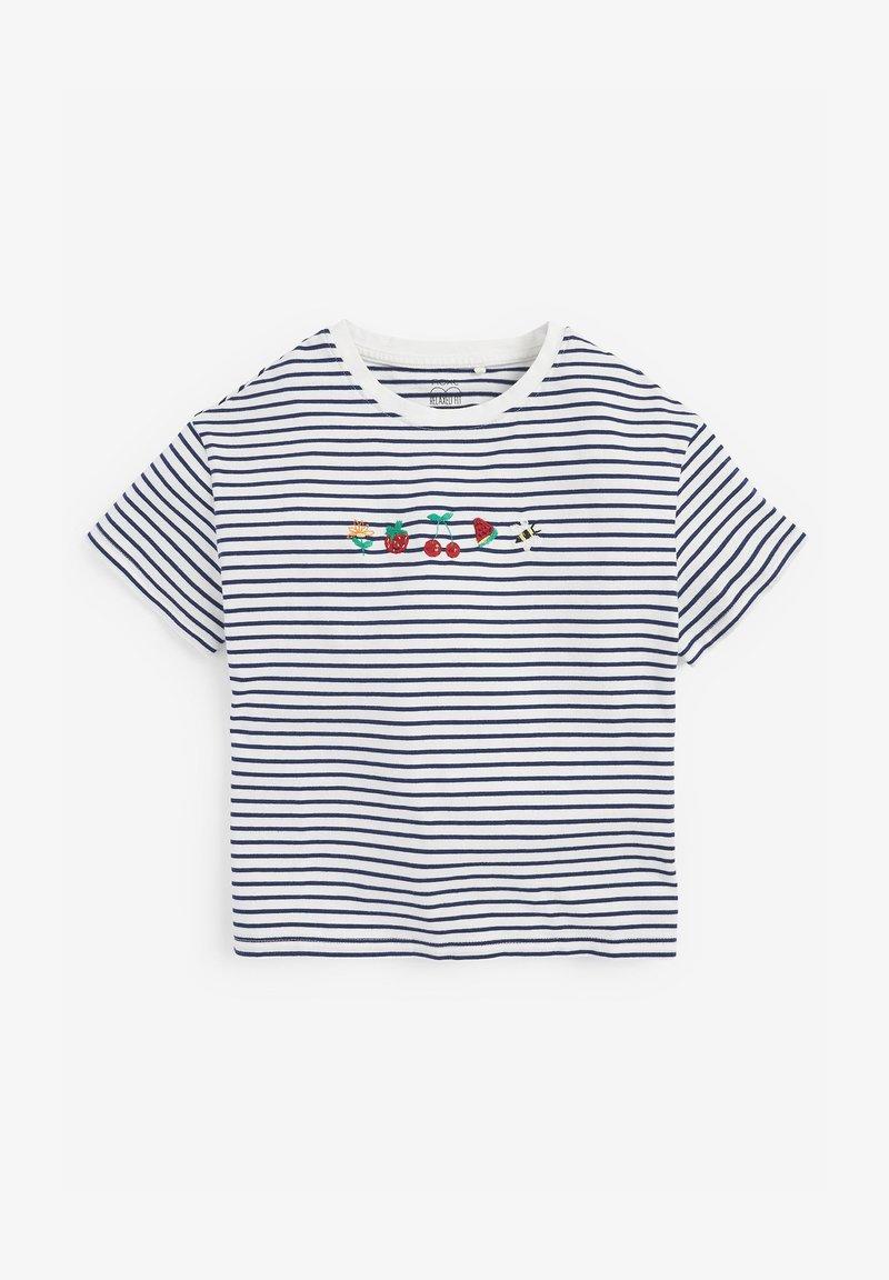 Next - EMBROIDERED STRIPE - Print T-shirt - multi coloured