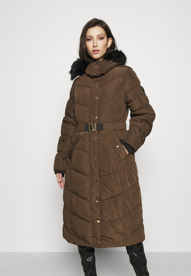BELTED PUFFER - Zimní kabát - khaki