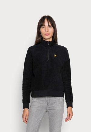 BRUSHED ZIP - Fleece jumper - jet black