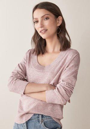 SCOOP NECK  - Jumper - pink