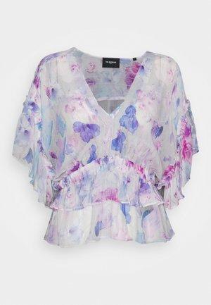 Blouse - white / lavender