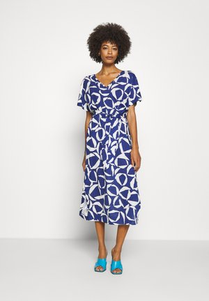 CRESENT BLOOM DRESS - Jersey dress - crisp blue