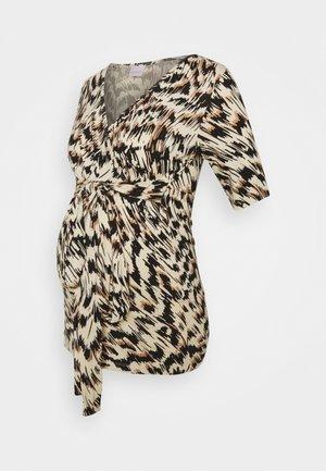 MLGINGER TESS - Long sleeved top - ecru/sandstone/black