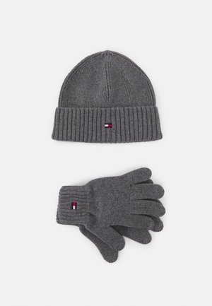 FLAG BEANIE GLOVES SET UNISEX - Čepice - light grey heather