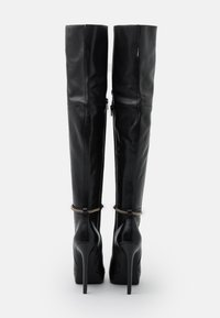 Even&Odd - LEATHER - Boots med høye hæler - black - 3