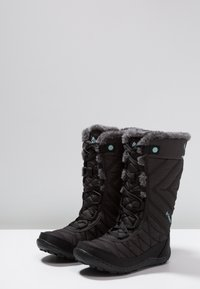 Columbia - YOUTH MINX MID III WP OMNI-HEAT - Winter boots - black/iceberg - 3