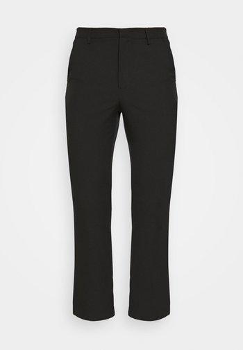 ON THE RUN STRAIGHT LEG TAILORED TROUSER - Pantaloni - black