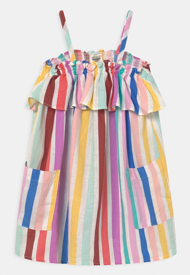 OshKosh - Rainbow Stripe Dress - Denní šaty - yellow/red/multi-coloured