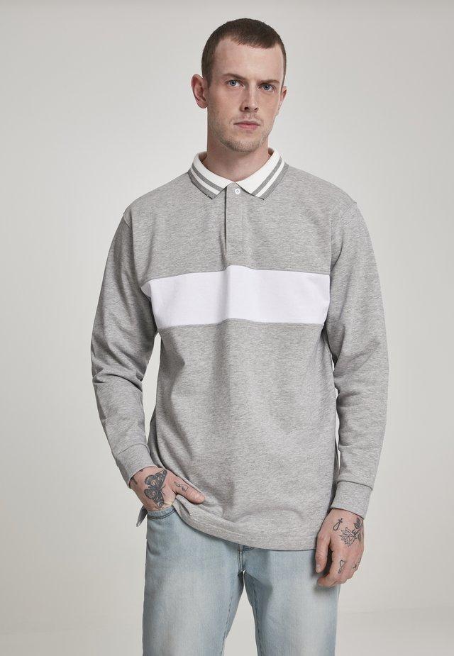 Polo - grey/white