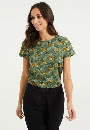 MET BLADERENDESSIN - Print T-shirt - dark green