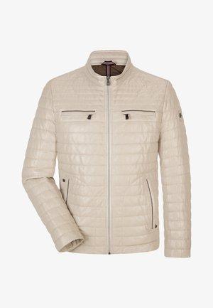 SUN RYTHM - Leather jacket - creme
