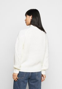 Dorothy Perkins Petite - CABLE HIGH NECK JUMPER - Strikkegenser - ivory - 2