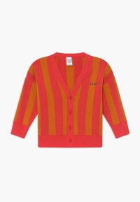 TINYCOTTONS - STRIPES CARDIGAN - Kardigan - red/brick - 0