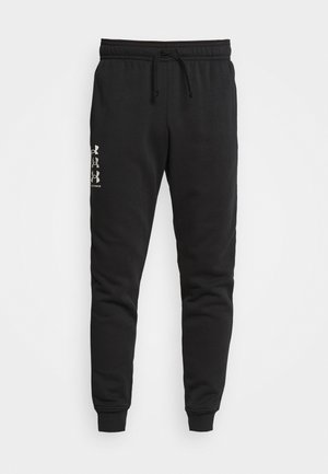 RIVAL MULTILOGO - Tracksuit bottoms - black/onyx white