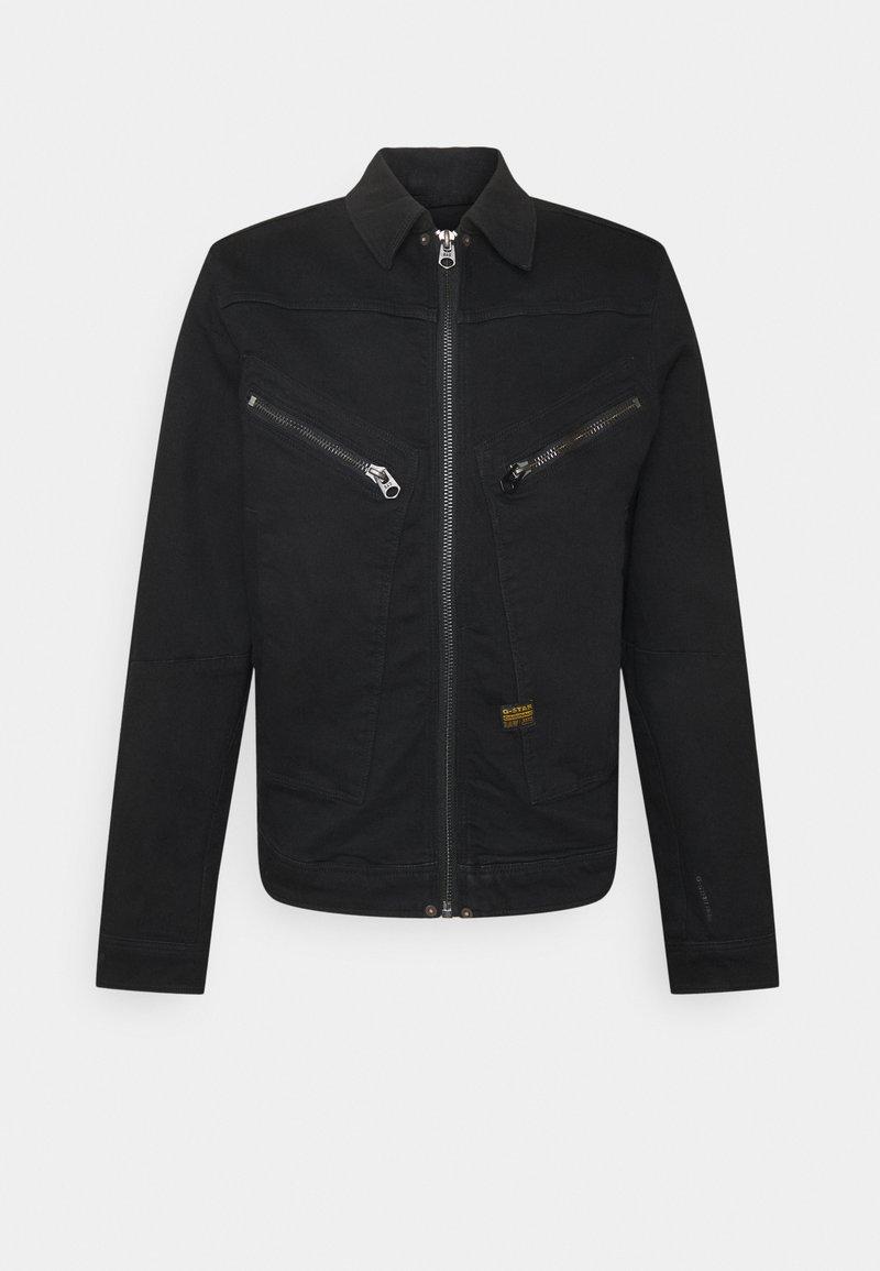 G-Star - AIR FORCE DENIM - Denim jacket - nero black stretch denim/pitch black
