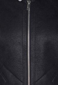 Armani Exchange - BLOUSON JACKET - Giacca in similpelle - black/white - 2