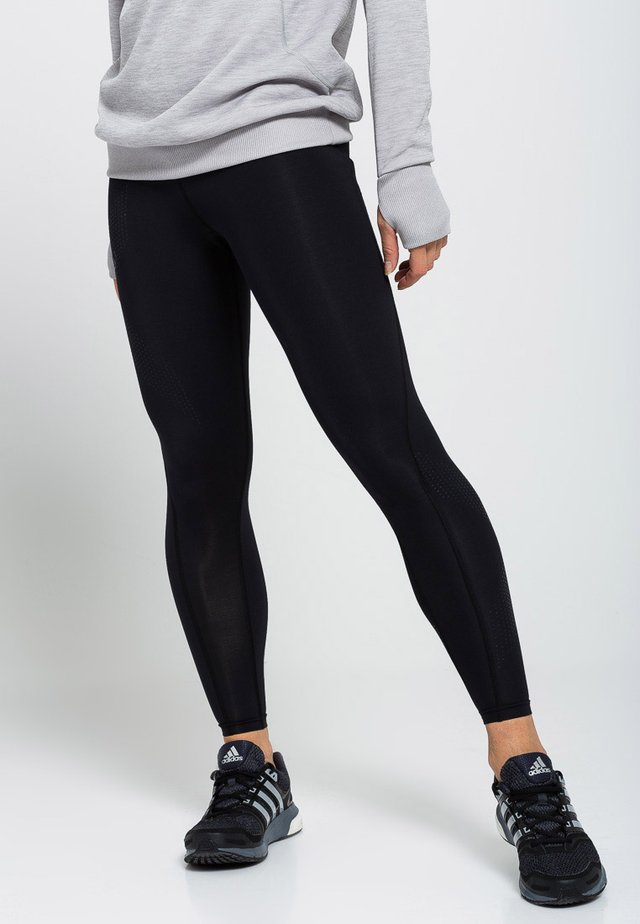 MID RISE COMPRESSION - Leggings - black