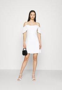 NA-KD - COWL NECK MINI DRESS - Day dress - white - 1