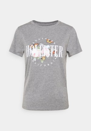 TECH CORE - Print T-shirt - grey