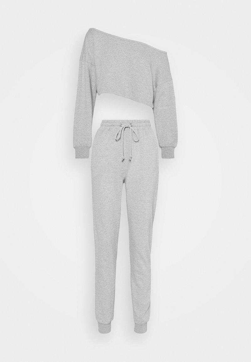 Missguided - OFF THE SHOULDER SET - Sweatshirt - grey marl