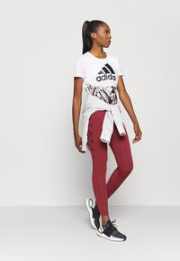 adidas Performance - Leggings - legend red/maroon - 1