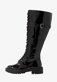 RAID Wide Fit - WIDE FIT  - Lace-up boots - black highshine - 1