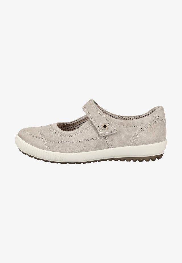 Ankle strap ballet pumps - grey