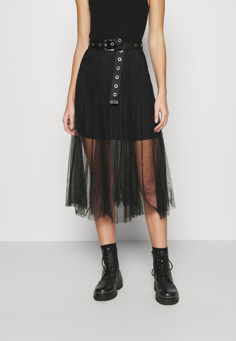 AllSaints - ELVIE TULLE SKIRT - A-line skirt - black