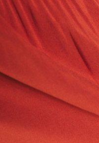 TOM TAILOR DENIM - OVERCUT SHOULDER DRESS - Day dress - rust orange - 2