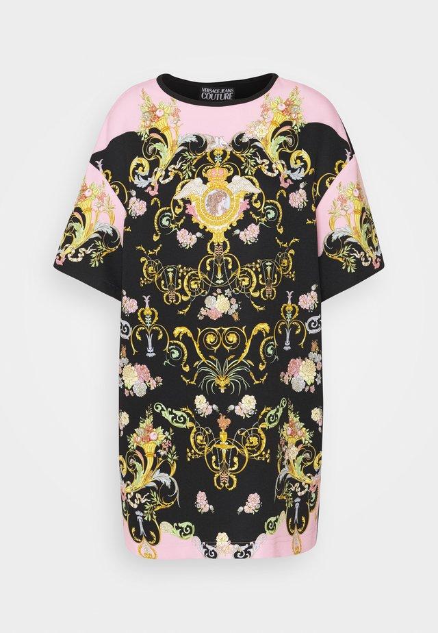 LADY DRESS - Robe d'été - black/pink confetti