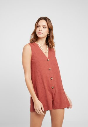 WILD TROPICS TEXTURED PLAYSUIT - Pigiama - rust
