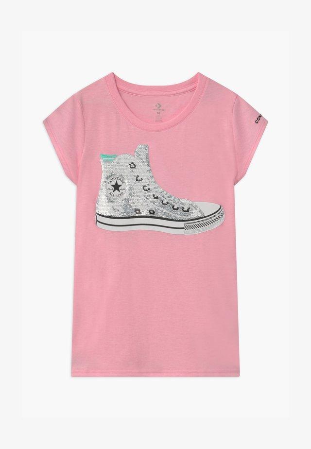 FLIP SEQUIN CHUCK TEE - Print T-shirt - pink glaze heather