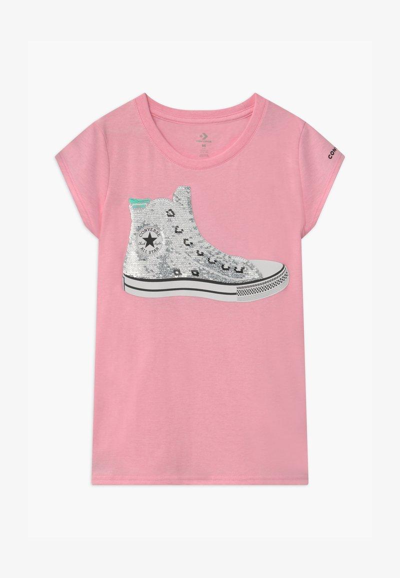 Converse - FLIP SEQUIN CHUCK TEE - Print T-shirt - pink glaze heather