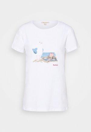 MELROSE TEE - Print T-shirt - white