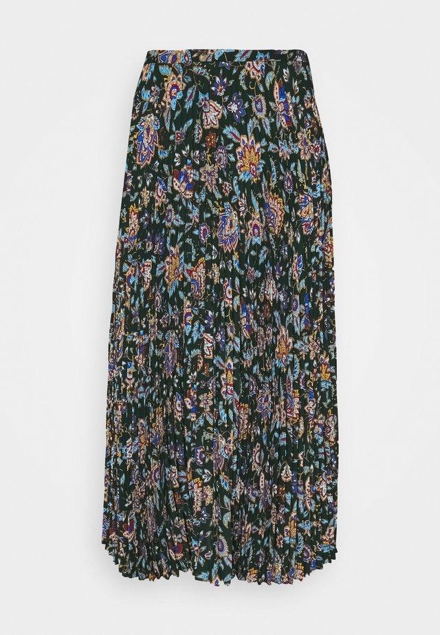 DRAPEY SKIRT - Plisovaná sukně - deep pine multi