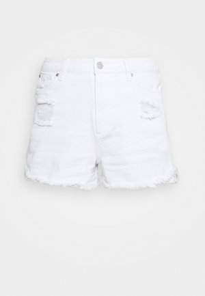QUIN RIPPED - Jeansshorts - white