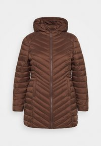 CAPSULE by Simply Be - LIGHTWEIGHT PADDED MID JACKET - Short coat - chocolate - 3
