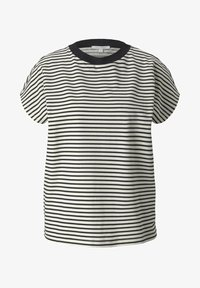 TOM TAILOR DENIM - WITH CONTRAST NECK - Print T-shirt - white - 4