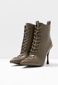 BEBO - LEGACY - High heeled ankle boots - khaki - 4