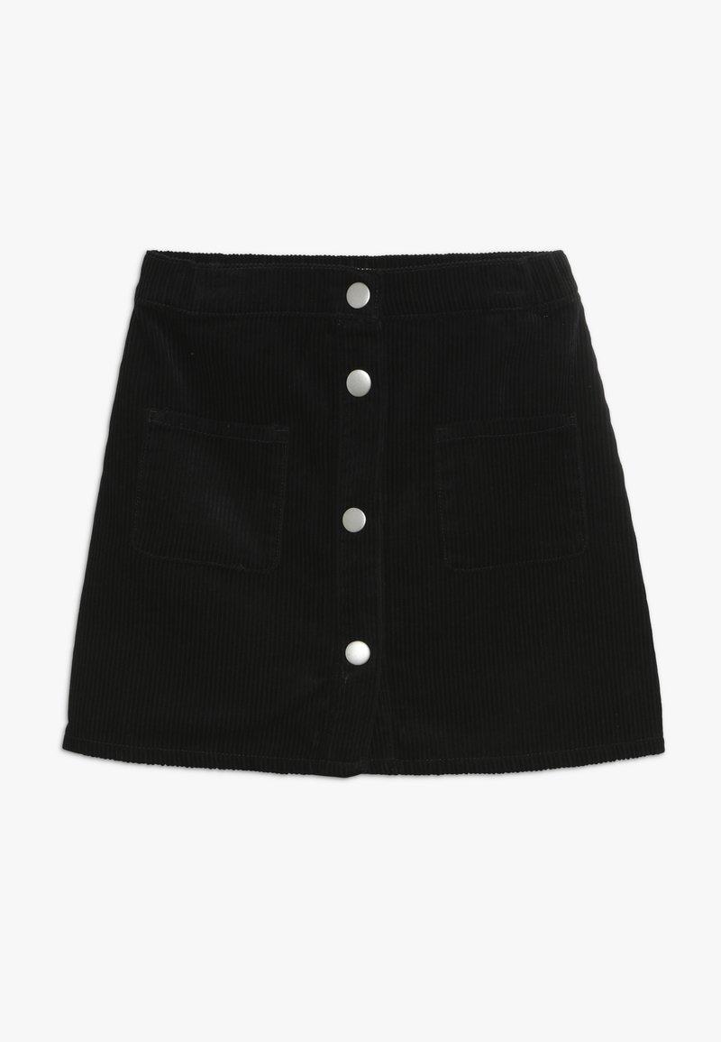 Benetton - SKIRT - Áčková sukně - black